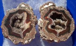 Geode with agate and quartz crystals
