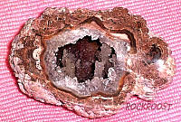 Geode with Stalactite formations